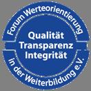 Siegel Forum Werteorientierung für Stefan Heller von der IKFV