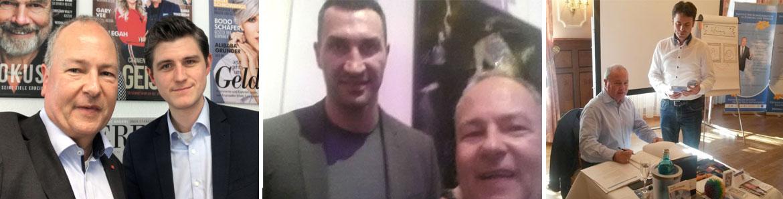 Stefan Heller bei Fokus, Klitschko und vor der Trainer-Stunde als Coach